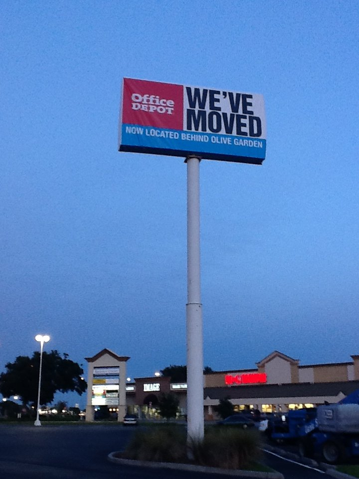 Office Depot Sign Cover