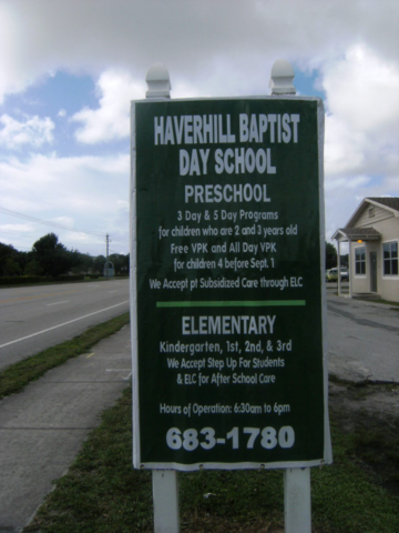 Signcovers, Sign Bags, Haverhill Baptist day school, preschool, elementary