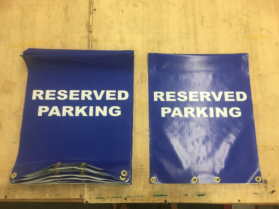 Signcovers, Reserved Parking, parking sign