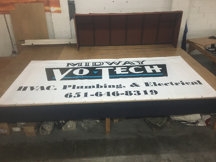 Signcovers, Sign bags, Midway Vo-Tech, HVAC, Plumbing, and Electrical