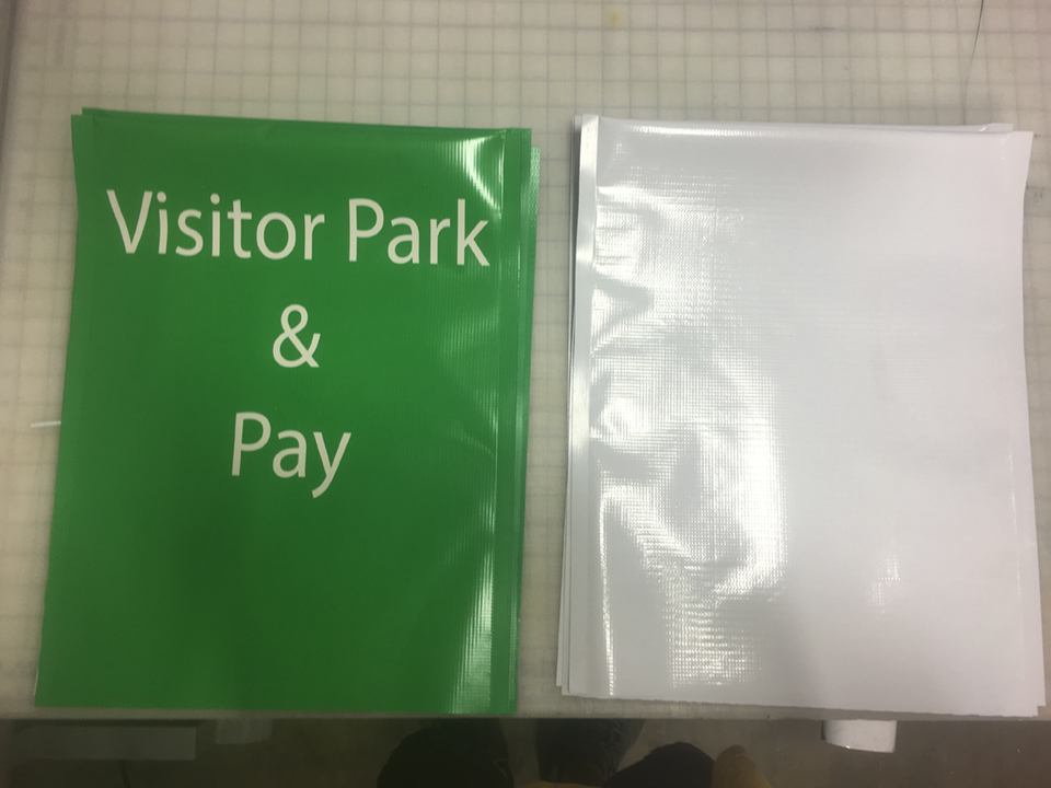 Signcovers, Visitor Park & Pay, parking sign