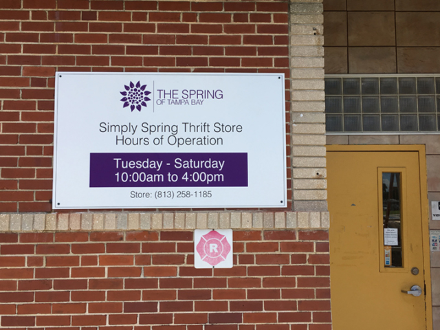 Signcovers, Sign Bags, The spring of Tampa Bay, Simply Spring thrift store