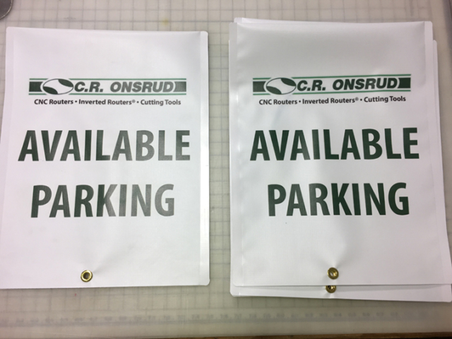 Signcovers, CR ONSRUD, Available Parking