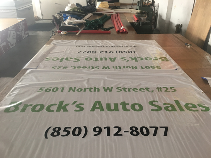 Signcovers, Sign bags, Brock's Auto Sales