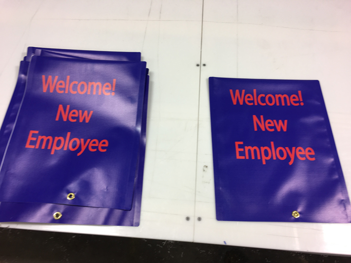 Signcovers, Parking Sign, Welcome new employee