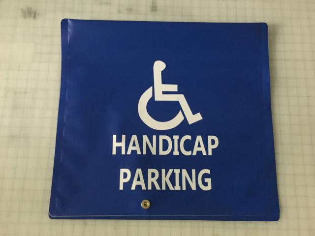 Signcovers, Parking sign, Handicap Parking