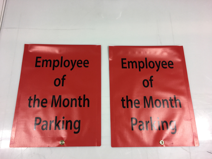 employee of the month parking signs