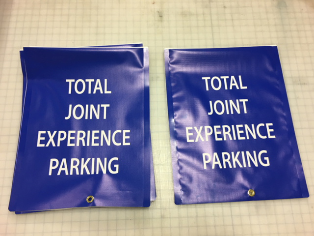 Signcovers, Parking Sign, Total Joint Experience Parking