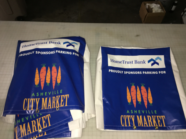 Signcovers, HomeTrusk Bank, Proudly sponsors parking for city market