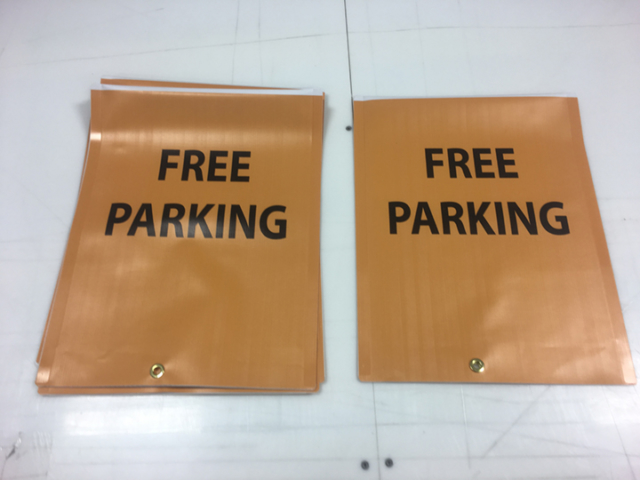 Signcovers, Parking sign, Free Parking