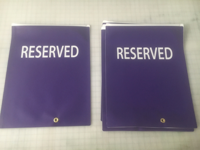 Signcovers, Parking Sign, Reserved