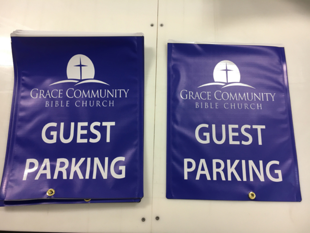 Signcovers, Parking sign, Guest Parking, Grace Community Bible Church