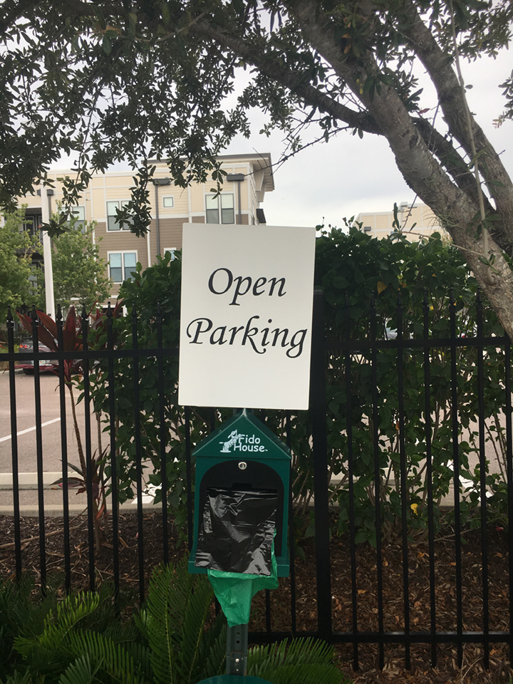 Signcovers, Parking Sign, Open Parking
