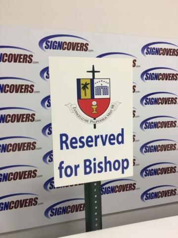 St. Vincent de Paul Regional Seminary-Parking Sign Cover