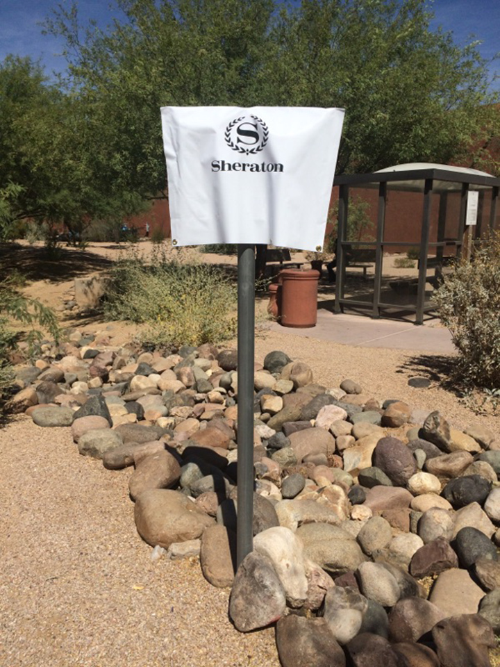 Signcovers, Parking sign, Sheraton