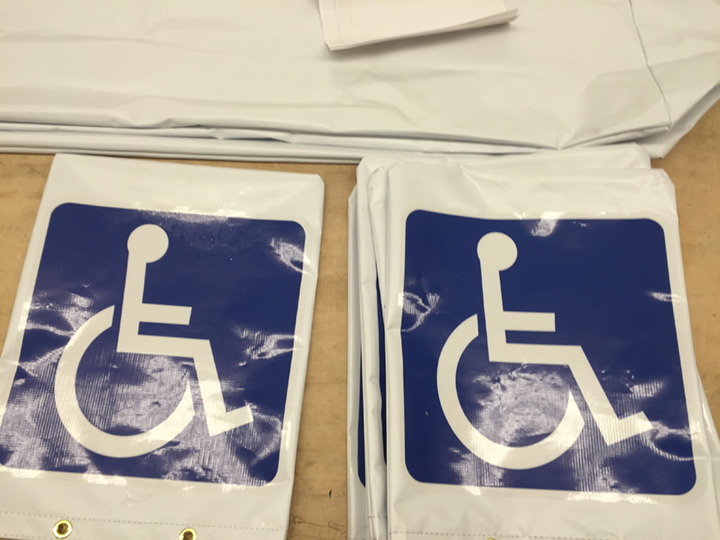 Signcovers, Parking sign, Handicap