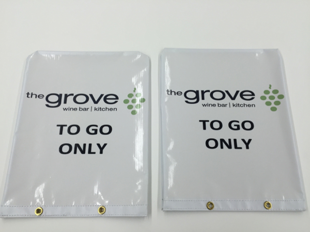 Signcovers, Parking sign, The grove Wine bar - kitchen, To go only