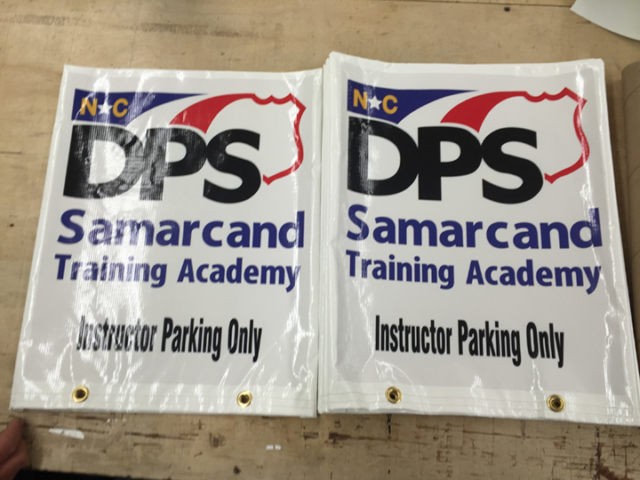 Signcovers, Parking sign, DPS Samarcand Training Academy, Instructor Parking Only