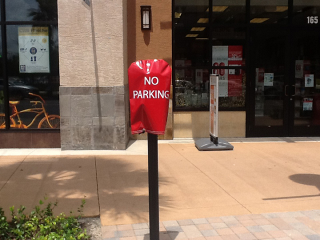 Signcovers, Parking sign, No parking