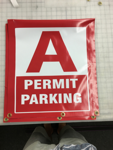 Signcovers, Parking sign, Permit Parking