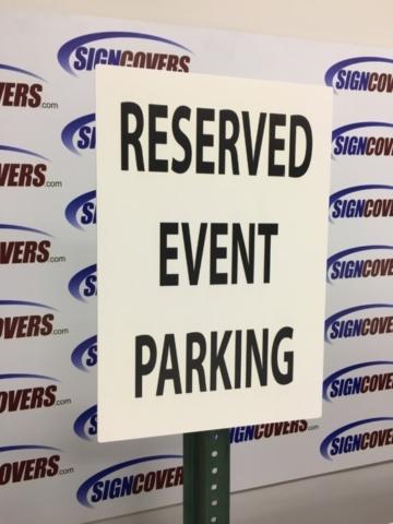 Reserved Event Parking Sign Slide Cover
