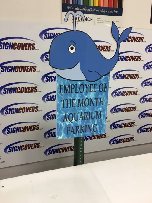 Employee of the month aquarium parking slide covers