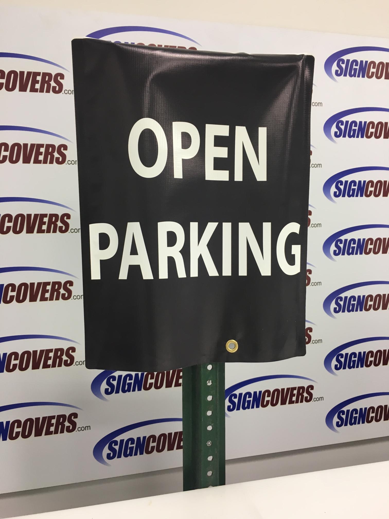 open parking parking sign slip cover
