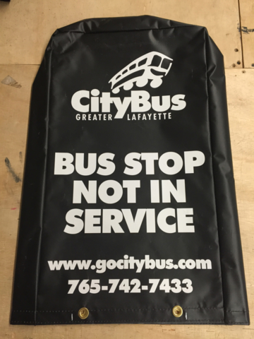 Signcovers, Parking sign, CityBus Greater Lafayette