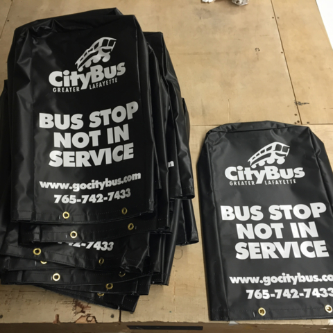 Signcovers, Parking sign, Bus stop not in service