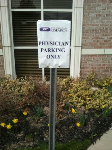 Signcovers, Parking sign, JEANBROWN RESEARCH, Physician Parking Only